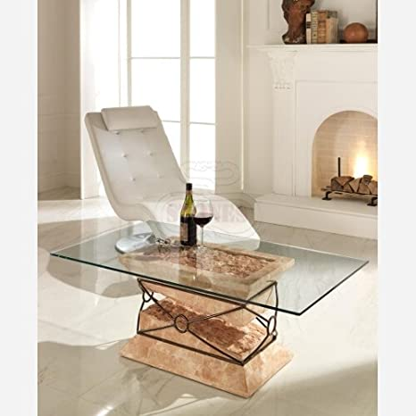 Emporio3 Tavolino da Salotto in Vetro - ST559  Amazon.it  Casa e cucina 529b83cd381a