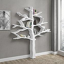 bookshelf shaped like a tree