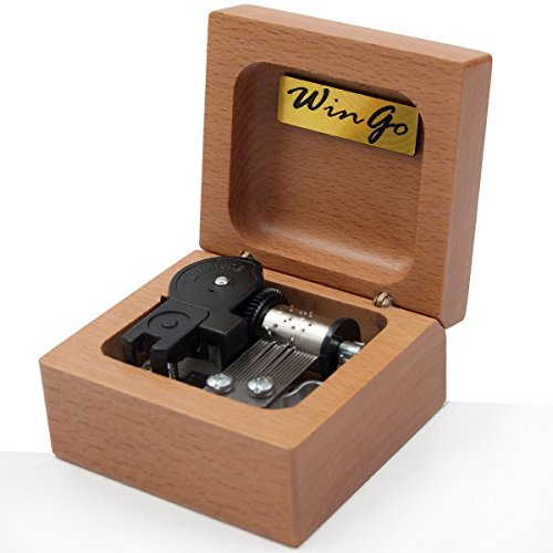 Mini 18 note wind-up Beech Wooden Music Box Tune of Fur Elise For Christmas/Birthday/Valentine's day