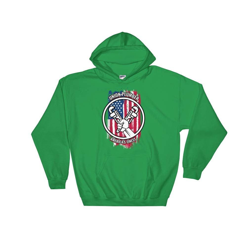 Proud American Skilled Labor Unisex Hooded Sweatshirt Amazingly Good Products Union Plumber Gift