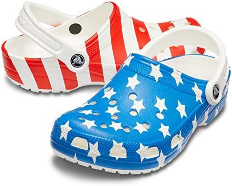 Crocs Women's Classic American Flag Clog