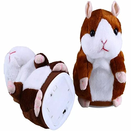 Talking Hamster Repeats After Words & Sounds Electronic Pet Talking Plush Toy Gift for Kids Children.Special Gift for Kids Ages...