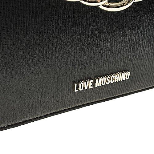 Love Moschino MOSCHINO LOVE BORSA A SPALLA NERA CON CATENA ORO Size : UNICA Salida De Llegar A Comprar jf3st86T