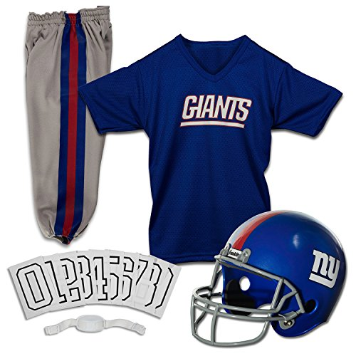 Franklin Sports NFL New York Giants Deluxe Youth Uniform Set, (Giants New York)
