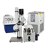 lab1st 5L Rotary Evaporator Hand Lifting Turnkey Package w/Water Vacuum Pump Χller