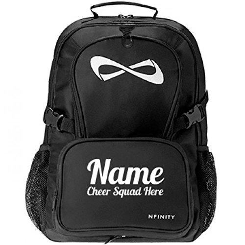 Cheerleader Custom Bag: Nfinity Black Backpack (Custom Made Cheerleading Bags)