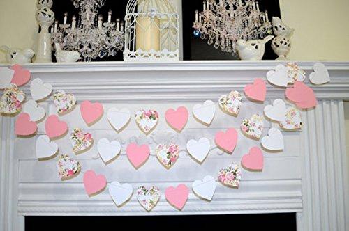 floral-shabby-chic-heart-garland-rose-garland-paper-garland-rustic-wedding-garland-bridal-shower-gar