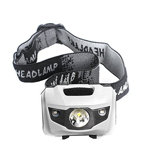 Unigear LED Headlamp, 4 modes Headlight, IPX 5 Flashlights for Camping, Hiking, Running, Camping, Dog Walking, Reading, Fishing, Hunting, Outdoor Sports