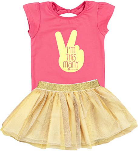 Fayfaire 2nd Birthday Shirt Outfit: Boutique Quality Second Bday Girl I'm This Many -