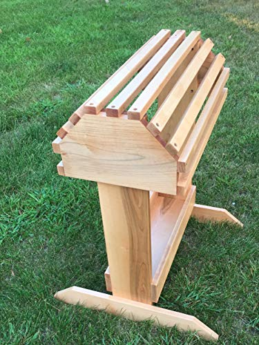 Wooden Stand Saddle - New Solid Maple Saddle Rack w/Finish