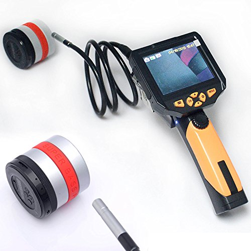 """3.5"""" LCD Inspection Camera 8.2 mm Borescope Endoscope Scope Zoom Rotate 5M Cable"""