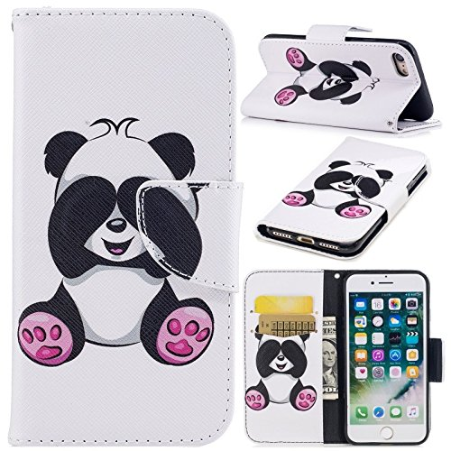 - Deniy Cute Big Panda Painted Pattern Flip PU Leather Wallet Stand Card Slots Mobile Phone Bag Case Cover For iPhone 6 Plus/6s Plus