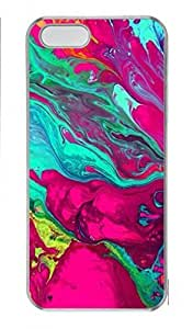 Custom Protector Case for iPhone 5C with Colorful Abstract Painting Hard Plastic Skin Case for iPhone 5C