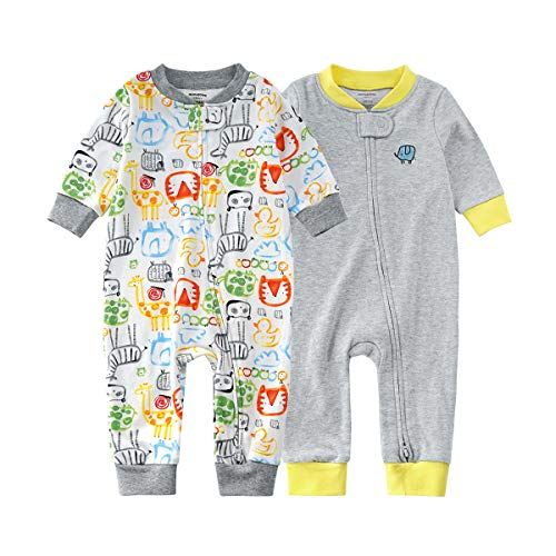Bears Baby Baby and Toddler 2-Pack Pajamas 100% Cotton Snup fit Infant Bodysuits Sleepwear