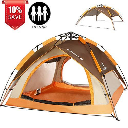 Zomake Automatic Camping Tent 2 3 Person Portable Dome