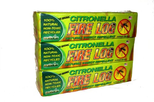 Earthlog, EC1000 Citronella Fire Log, Manufactured Anti-Mosq