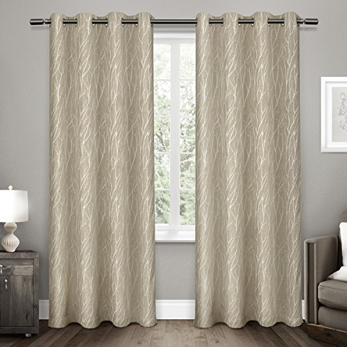 Exclusive Home Curtains Forest Hill Woven Top Window Curtain Panel Pair, 54