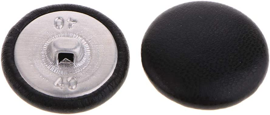Pack of 10 Artificial Leather Covered Shank Buttons for Crafts Sewing Knitting Haberdashery Upholstery 20mm Sewing Buttons