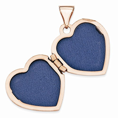 Goldia 14k rose gold 15mm heart locket
