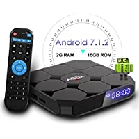 2018 Model GooBang Doo ABOX A1 max Android 7.1 TV BOX, 2GB RAM 16GB ROM Bluetooth 4.0 Amlogic S905W Quad Core A53 Processor 64 Bits