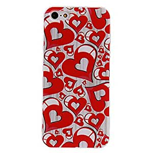 Hearts of Steel Pattern PC Hard Case with Transparent Frame for iPhone 5/5S
