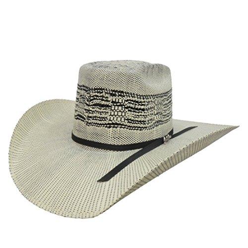 Tombstone Bangora Longhorn Cowboy Hat (7 1/8, Natural/Black) ()