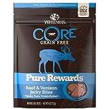 Wellness Pure Rewards Natural Grain Free Dog Treats, Venison Jerky, 6-Ounce Bag