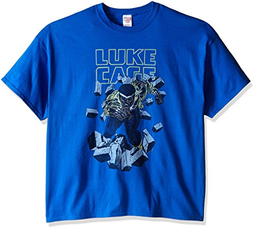 Marvel Men's Big-Tall Luke Cage T-Shirt, Royal, XXX-Large