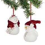 Department 56 Snow Pinions - Grandma & Grandpa Snowman Ornaments