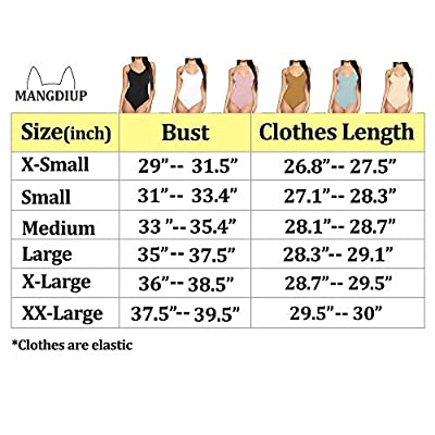 MANGDIUP Women's V-Neck Backless Camisole Adjustable Spaghetti Strap Bodysuits Jumpsuits: Clothing
