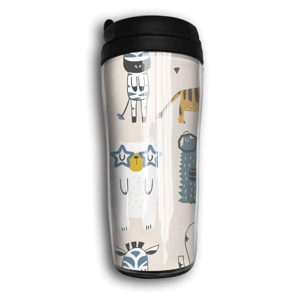 Xyou Childish with Cute Animals Stainless Lined Coffee Tumbler, 12-Ounce,Vacuum Insulated Tumbler,Travel Mugs.