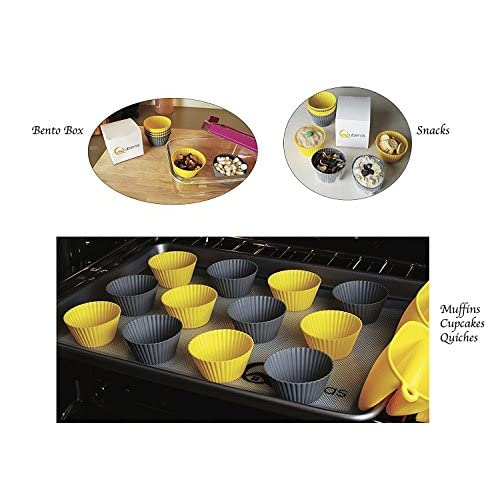 Silicone Bakeware Set - 22 Utensils - Includes Cupcake Molds, Cookie Sheets and More - Certified Food Safe by the FDA - The Perfect Gift For Any Baker In Your Life