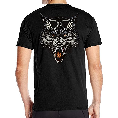 Men's Wolf Dreams Particular Tees Black Size XL