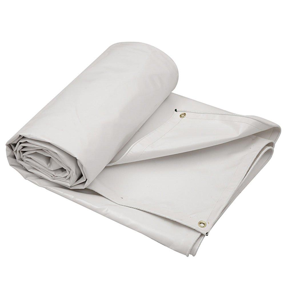 ZEMIN オーニング サンシェード ターポリン 防水 日焼け止め シート 布 テント スプライス 耐久性のある 厚い ポリエステル、 5色、 500G/7サイズあり (色 : 白, サイズ さいず : 3X3M) B07CYWJHHQ 3X3M|白 白 3X3M