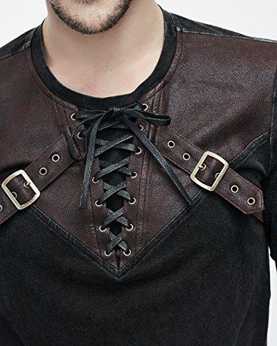 Devil Fashion -  Maglia a manica lunga  - Collo a U  - Maniche lunghe  - Uomo