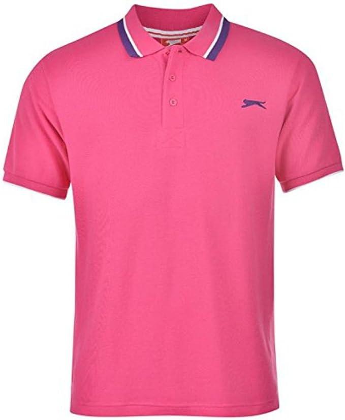 Slazenger - Polo - para Hombre Rosa Pink TBC Small: Amazon.es ...