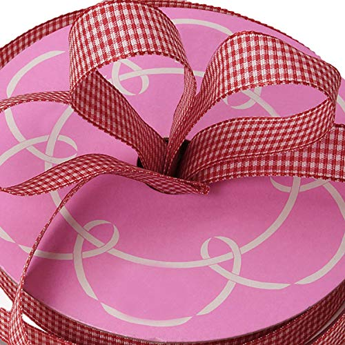 Red Gingham Wired Edge Ribbon - 5/8