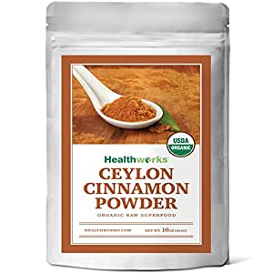 Healthworks Ceylon Cinnamon Organic Powder, 1lb