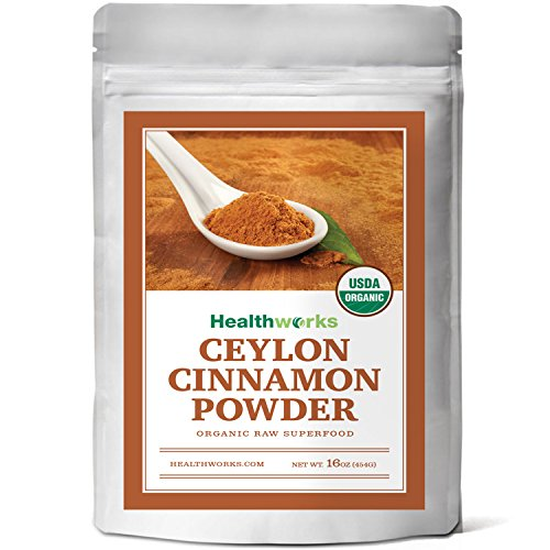 Healthworks Ceylon Cinnamon Organic Powder, 1lb Cinnamon Bowls