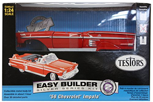 Testors Chevrolet Impala Convertible Car Model Kit (1:24 (24 Metal Model Kit)