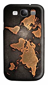 covers luxury grunge world map PC case/cover for Samsung Galaxy S3 I9300