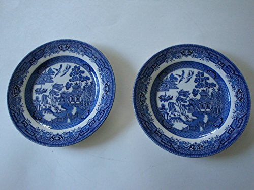 Churchill China Blue Willow Set of 2 Salad (Churchill China Blue Willow)