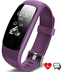 Aneken Fitness Tracker Activity Tracker With Heart Rate Monitor Bluetooth Smart Bracelet With Sleep Monitor Smart Watch For Android Or Ios,iphone,or Other Smartphone,purple