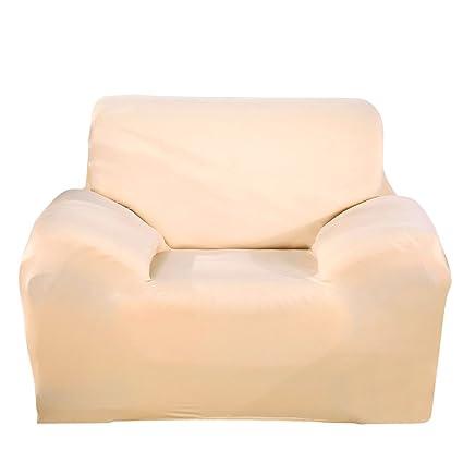 Paramount City ParaCity la silla del estiramiento de la cubierta 2 plazas Tela Funda Protector Funda Sillón 1 seater:90-140cm Beige