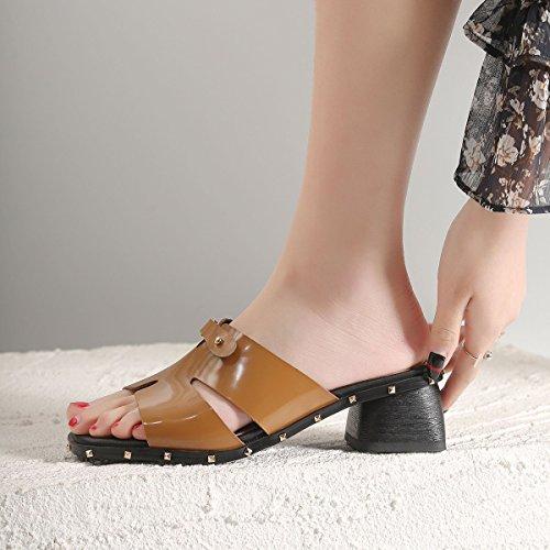 de Confort Zapatos de de Caminata Sandalias Pantuflas de Zapatos Tac XUE Transpirables de Zapatos Chanclas de y Verano Mujer Cuero A8xn0wqg