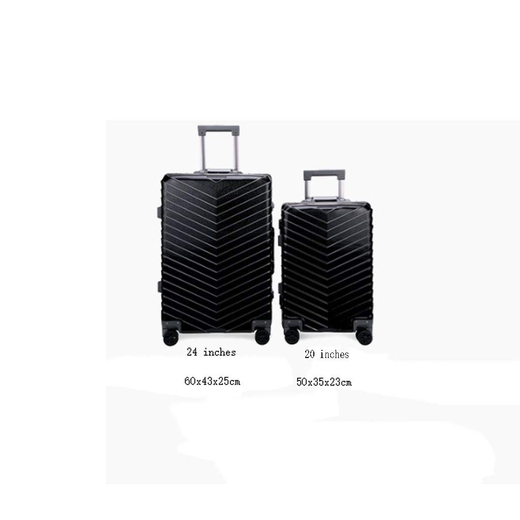 Bag Luggage Suitcase Business Suitcase 20 Inch Trolley Case 24 Inch Suitcase Universal Wheel Wear Black 50 cm Hand Luggage suitcases Computers & Accessories Color : Black, Size : 20 inches50x35x23cm Bags, Cases & Sleeves