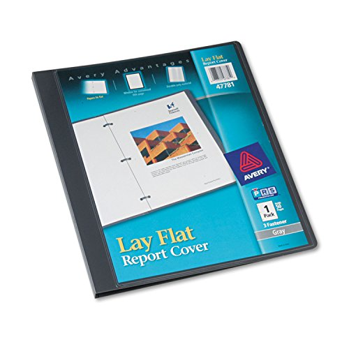 Report Cover, 3-Fasteners, 1/2 Cap, 8.5 x 11, Gray, 1/Each ()