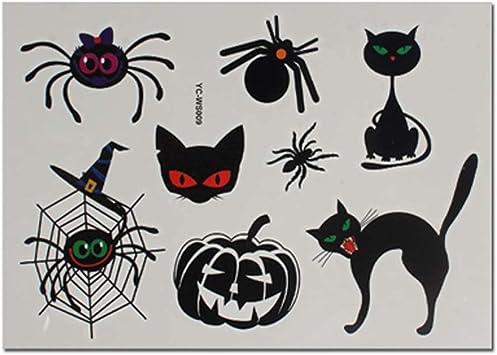 4 Feuilles De Dessin Anime Araignee Chat Citrouille Halloween