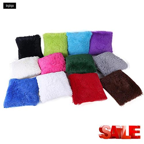 Haushalt Kissen,Jaminy Kissen Tasche Sofa Taille Kissen Abdeckung Home Decor 43x43cm (Grau) Blau