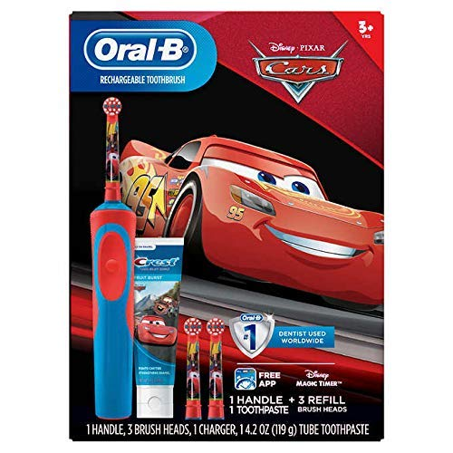 Black Friday: Oral-B Stages Vitality Kids Disney Pixars Cars Rechargeable Electric Toothbrush + Toothpaste Bundle Pack (3+)